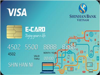 Ngân hàng ShinhanBank-  Thẻ tín dụng quốc thế Visa cá nhân Shinhan E-card