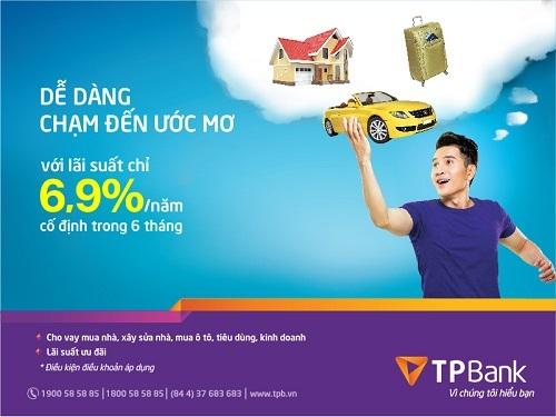 Vay mua nhà, vay mua xe tại TPbank
