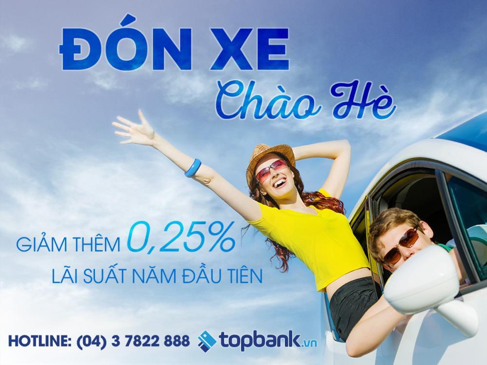 giảm thêm lãi suất khi đăng kí vay mua xe qua Topbank.vn
