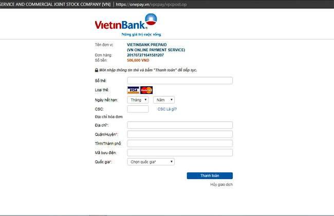 làm thẻ visa ảo