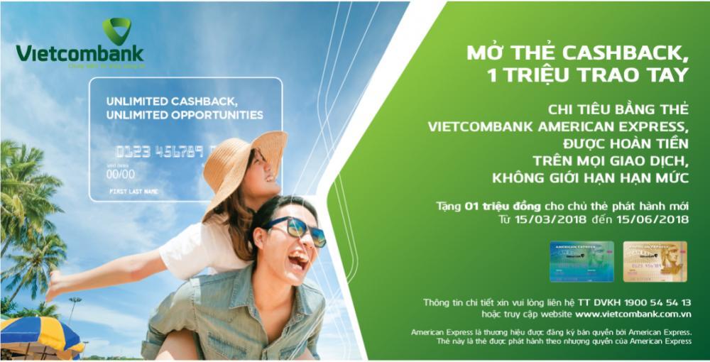 ưu đãi, khuyến mãi khi mở thẻ tín dụng Vietcombank
