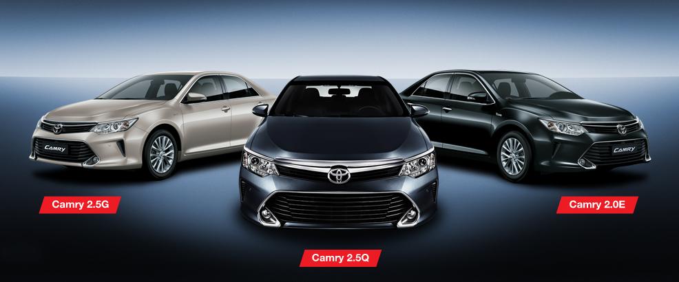 3 dòng xe Toyota Camry