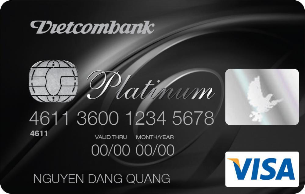 Thẻ visa credit platinum Vietcombank