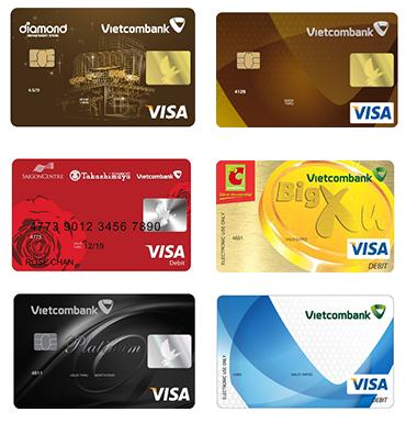 Các loại thẻ Visa Vietcombank - ảnh minh họa