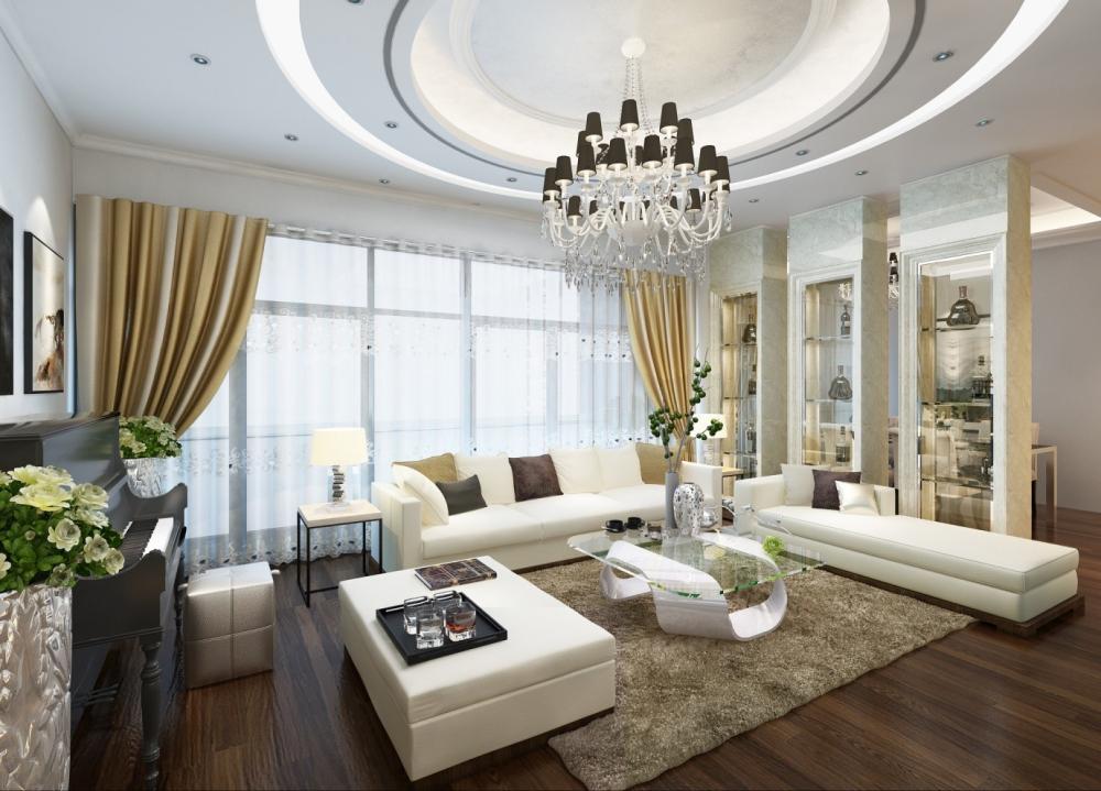 Phòng khách tại căn hộ Lạc Hồng lotucs 2 -ảnh minh họa