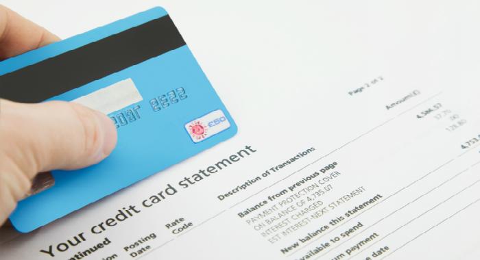 Bản sao kê thẻ tín dụng