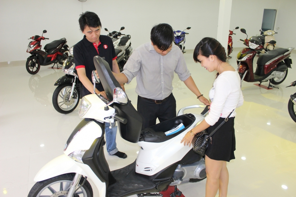 Quy trình mua xe máy trả góp cho khách hàng