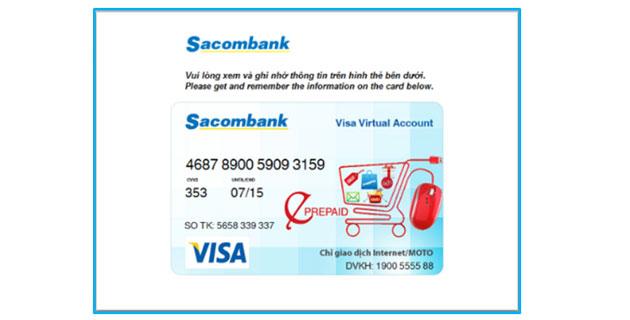 Số thẻ Visa ảo - ảnh minh họa