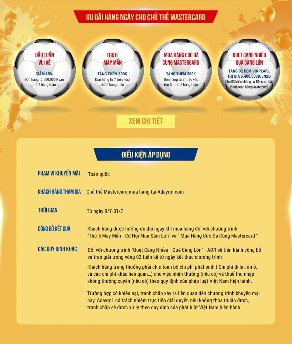 Ưu dãi dành cho chủ thẻ Eximbank MasterCard tại Adayroi