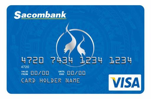thẻ tín dụng Sacombank Visa Chuẩn
