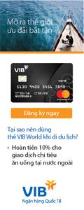 ưu đãi mở thẻ VIB