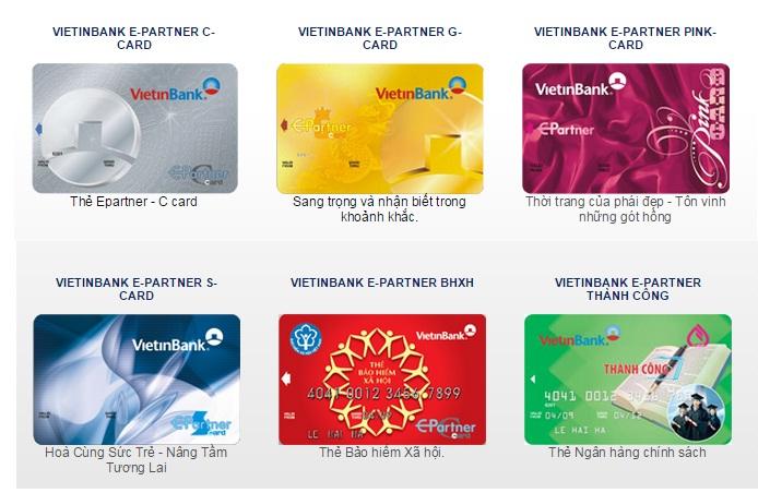 Các loại thẻ ghi nợ nội địa Vietinbank - ảnh minh họa