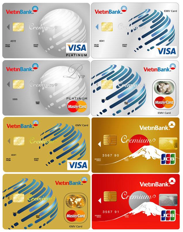 Một số loại thẻ tín dụng Vietinbank - ảnh minh họa
