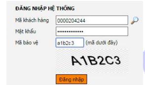 Màn hình hiển thị đăng nhập tài khoản online