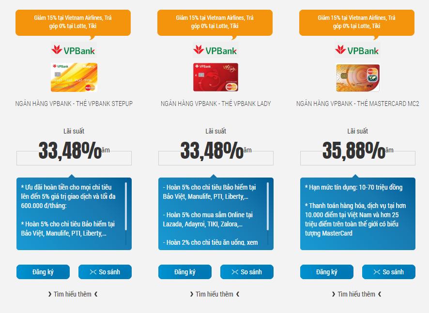 Thẻ tín dụng lương 8 triệu ngân hàng VP Bank - ảnh minh họa