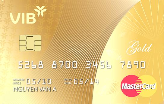 Thẻ tín dụng VIB Mastercard Gold cho khách hàng thu nhập 8 triệu