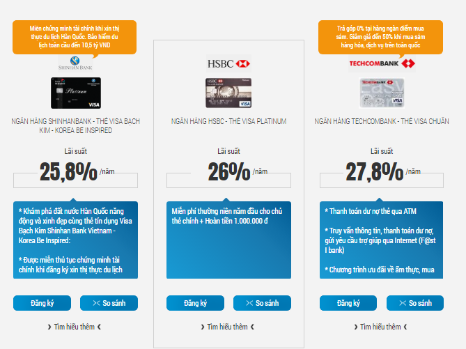 Các loại thẻ tín dụng miễn phí thường niên ưu đãi nhất