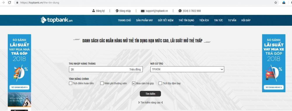 Làm thẻ tín dụng tại TP HCM
