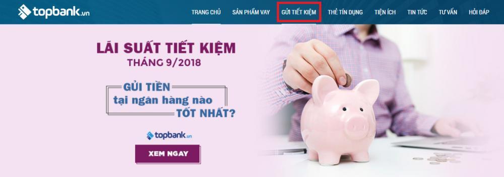 Thông tin gửi tiết kiệm ngân hàng với topbank.vn