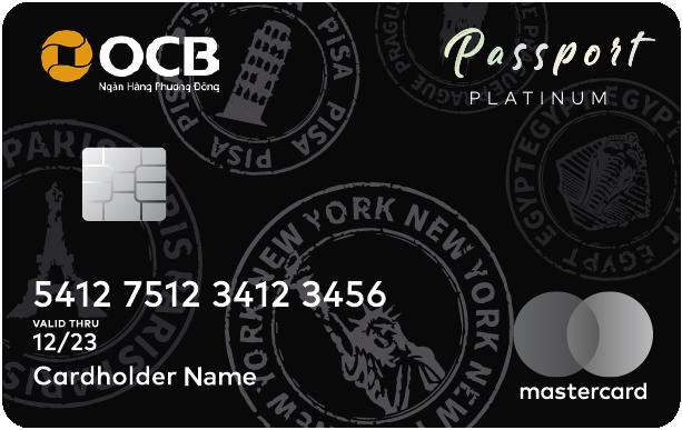 Thẻ tín dụng OCB passport Platinum - anh minh hoa