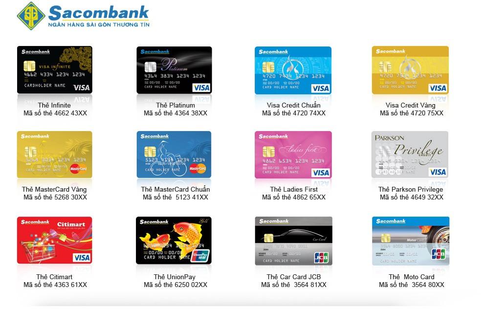 Các loại tài khoản ngân hàng Sacombank