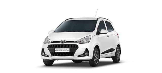 Xe Hyundai Grand i10 trắng cho ngừoi mệnh thủy