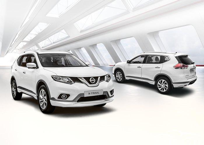 Mẫu xe Nissan Xtrail màu trắng