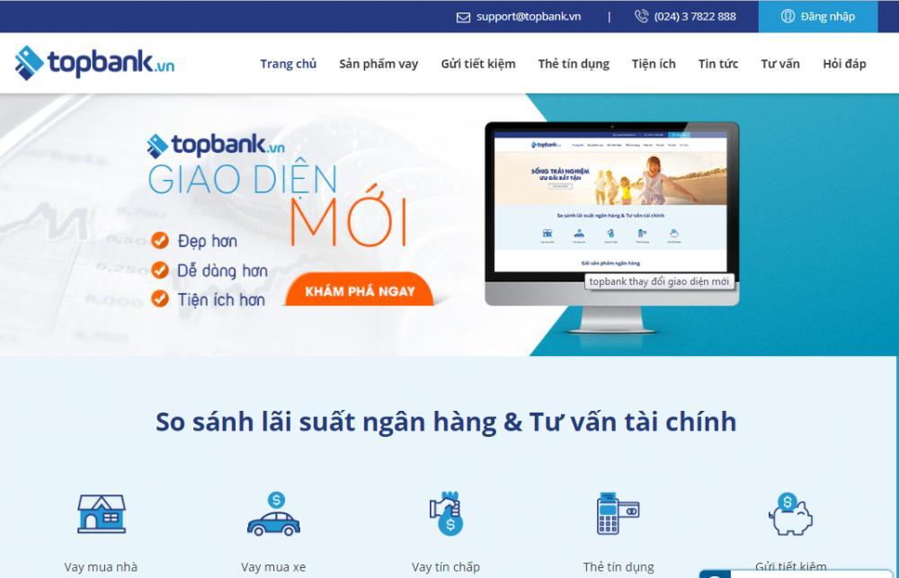 topbank thay đổi giao diện