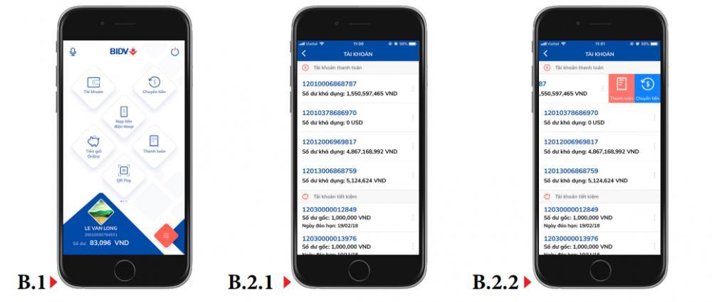 Kiểm tra số dư tài khoản BIDV Online qua BIDV Smartbanking