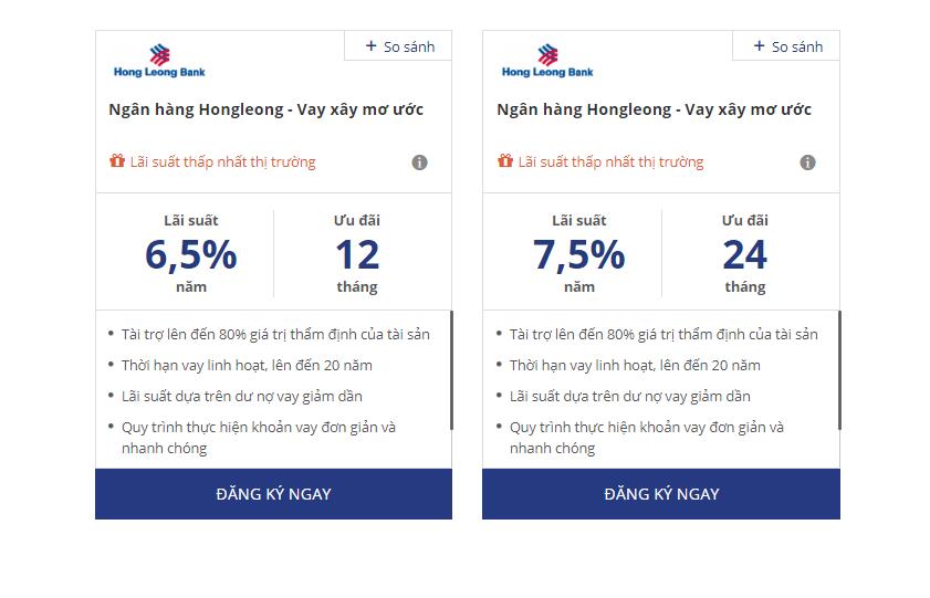 Lãi suất vay mua nhà Hong Leong Bank chỉ từ 6,5%/năm