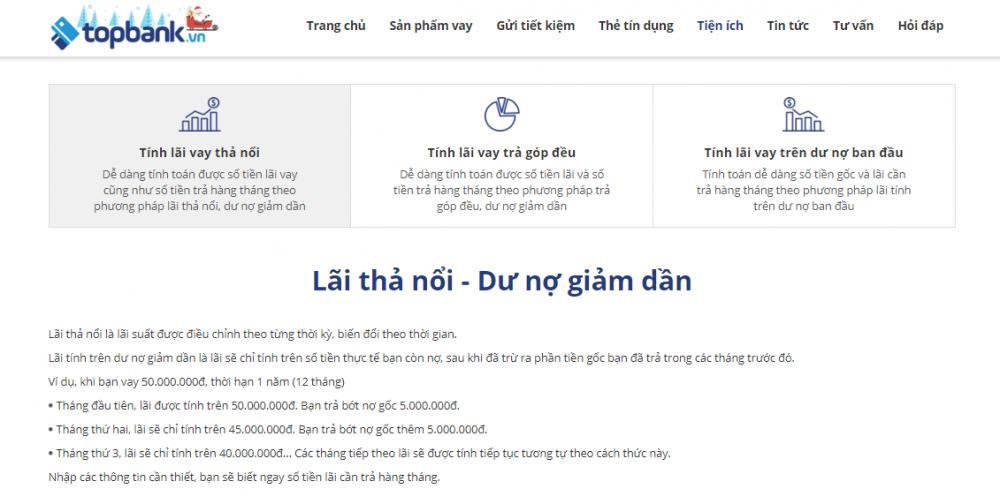 Cách tính lãi vay mua xe Vietcombank