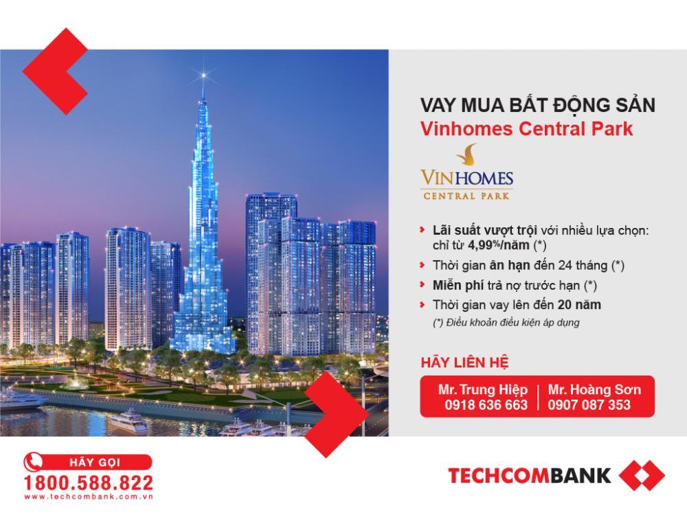 Ưu đãi từ ngân hàng Techcombank khi mua nhà trả góp Vinhomes