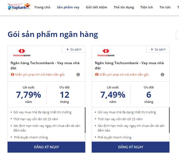 Techcombank - Vay mua nhànhà với lãi suất chỉ từ 7,49%/năm