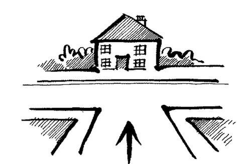 Tránh mua nhà có đường chính đâm thẳng vào nhà - ảnh minh họa