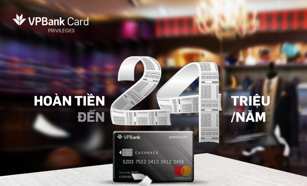 Thẻ tín dụng VPBank Platinum Cashback - ảnh minh họa