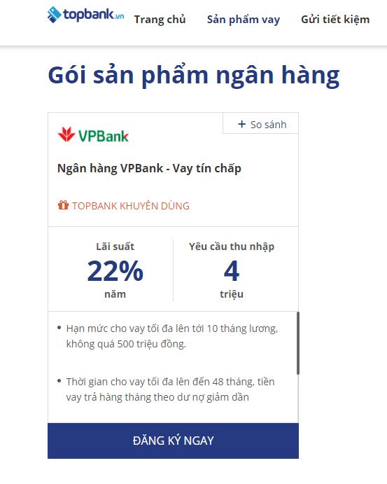 Lãi suất vay tín chấp VPBank 2019 - ảnh minh họa