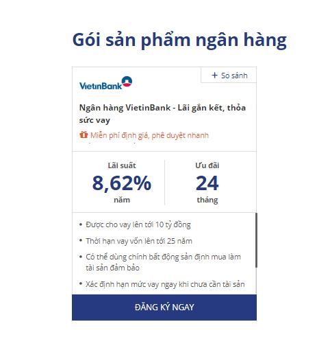 Lãi suất vay mua nhà ngân hàng Vietinbank