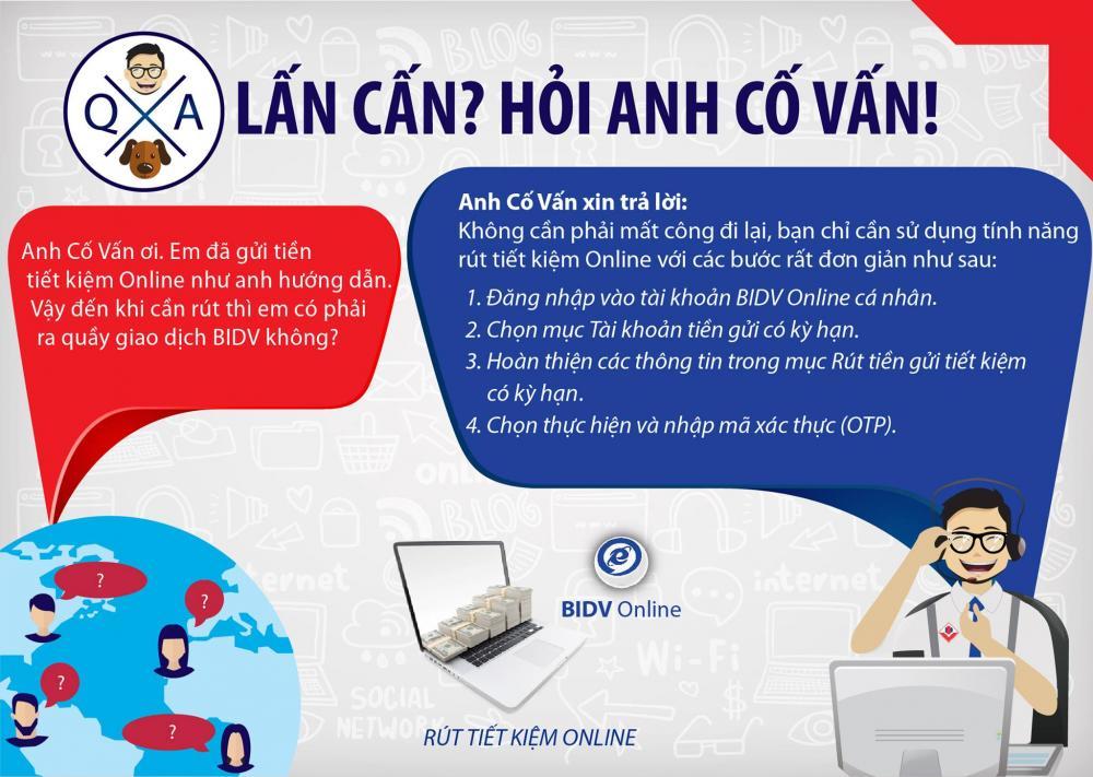 Cách tất toán tài khoản tiết kiệmonline BIDV chi tiết nhất