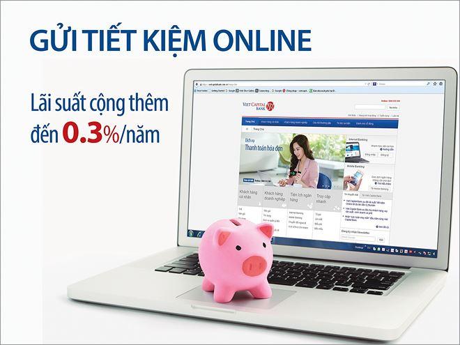 Mở tài khoản tiết kiệmtiết kiệm Online hưởng lãi suất hấp dẫn