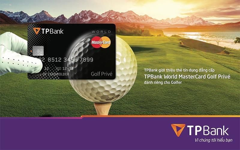 Thẻ tín dụng TPBank World MasterCard Golf Privé - ảnh minh họa