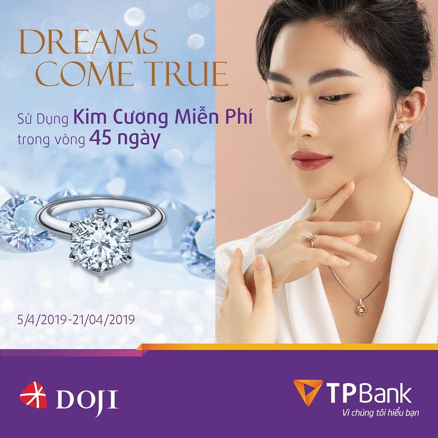 Ưu đãi thẻ tín dụng TPBank  với đối tác DOJI khi mua kim cương