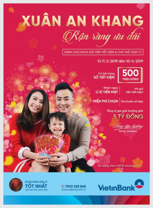Ưu đãi 500 triệu đồng cho khách hàng chi tiêu qua thẻ tín dụng Vietinbank