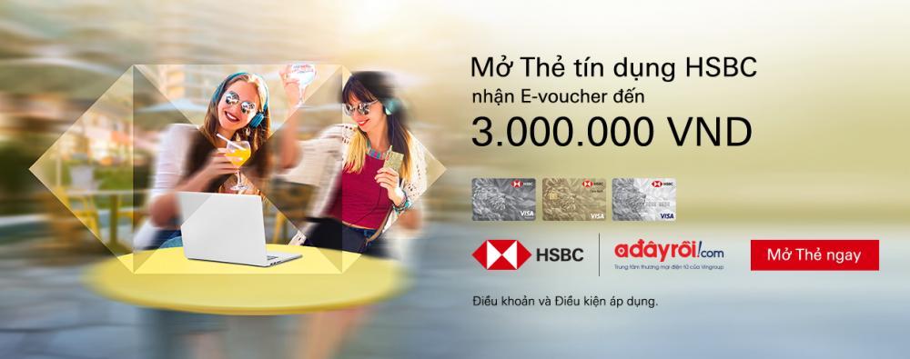 Ưu đãi mở thẻ tín dụng HSBC năm 2019
