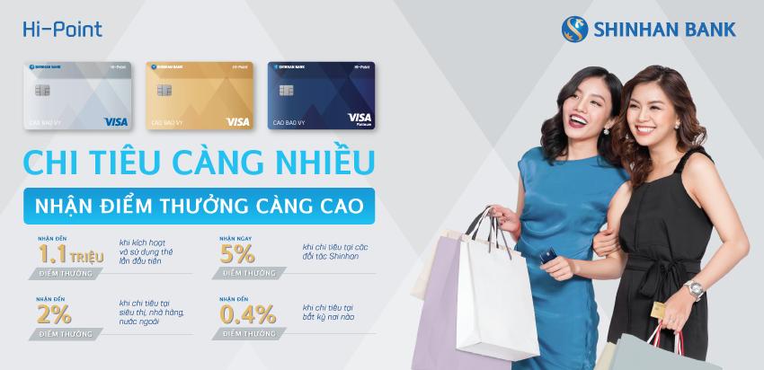 Kết quả hình ảnh cho thẻ tín dụng hipoint shinhan bank