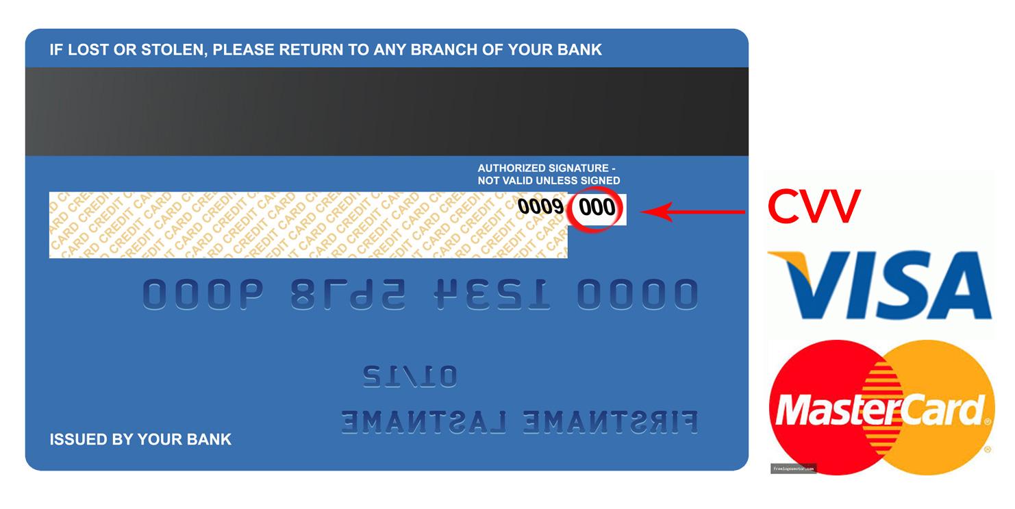 số cvv trên thẻ tín dụng
