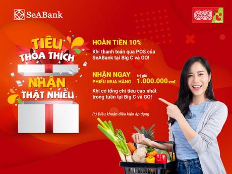 Săn thẻ quốc tế SEABank ngya hôm nay