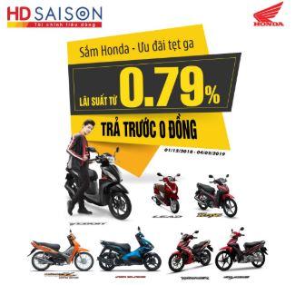 Lãi suất trả góp xe máy Honda