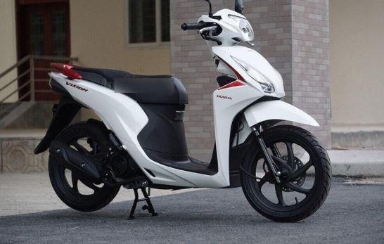 Honda Vision màu trắng