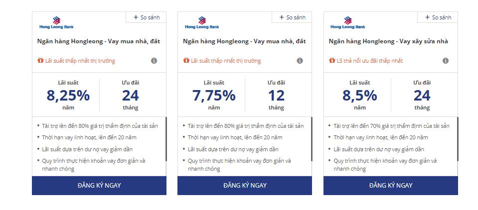 vay mua nhà Hong Leong Bank