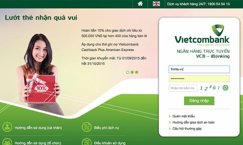 Tên đăng nhập internet banking